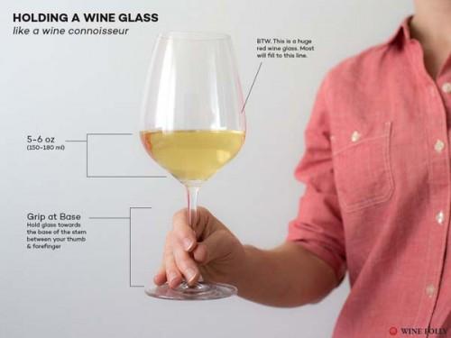 איך להחזיק כוס יין 1