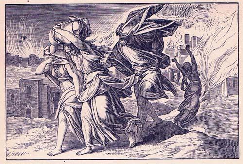 לוט ובני משפחתו נמלטים מסדום.
